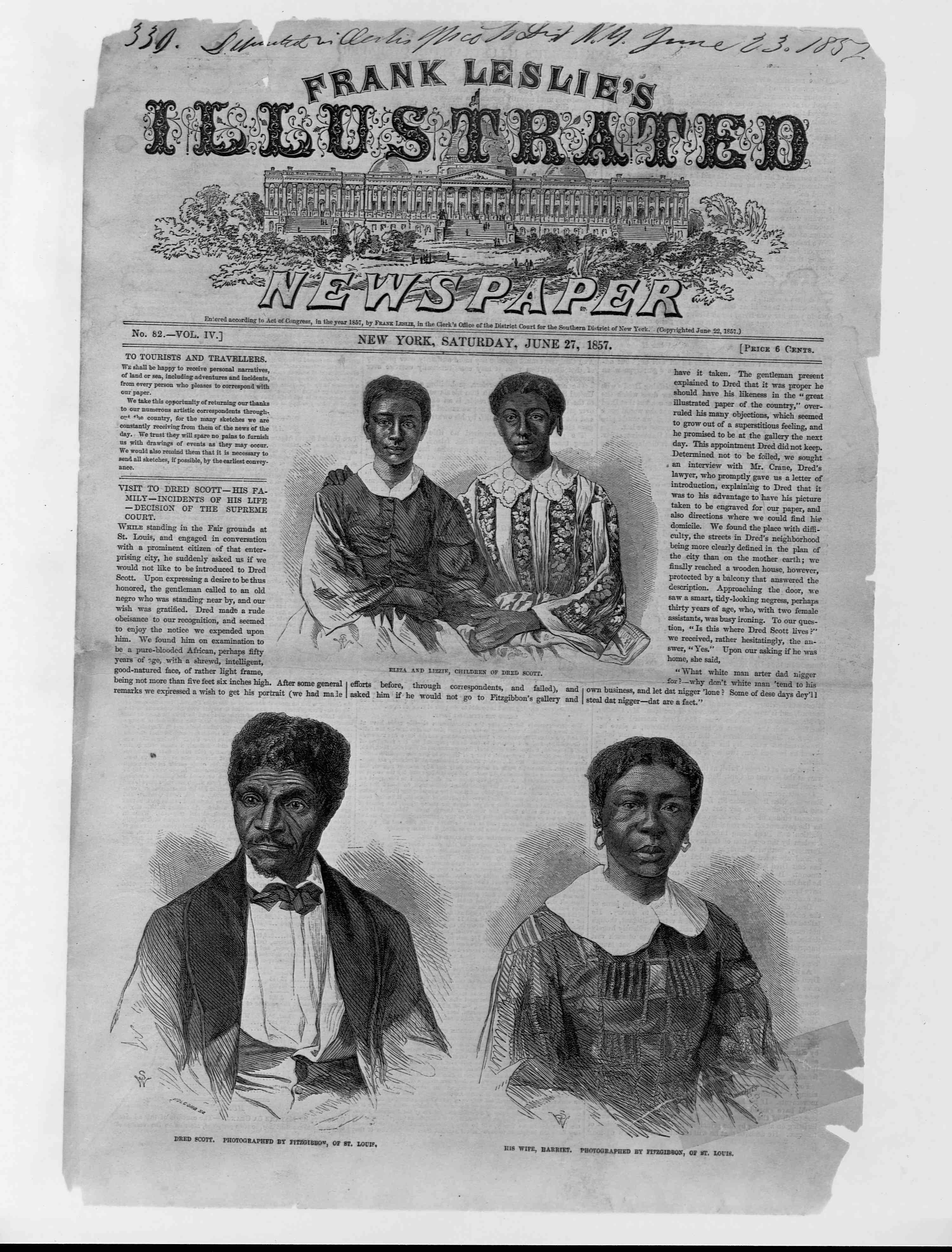 Newspaper About Dred Scott Decision