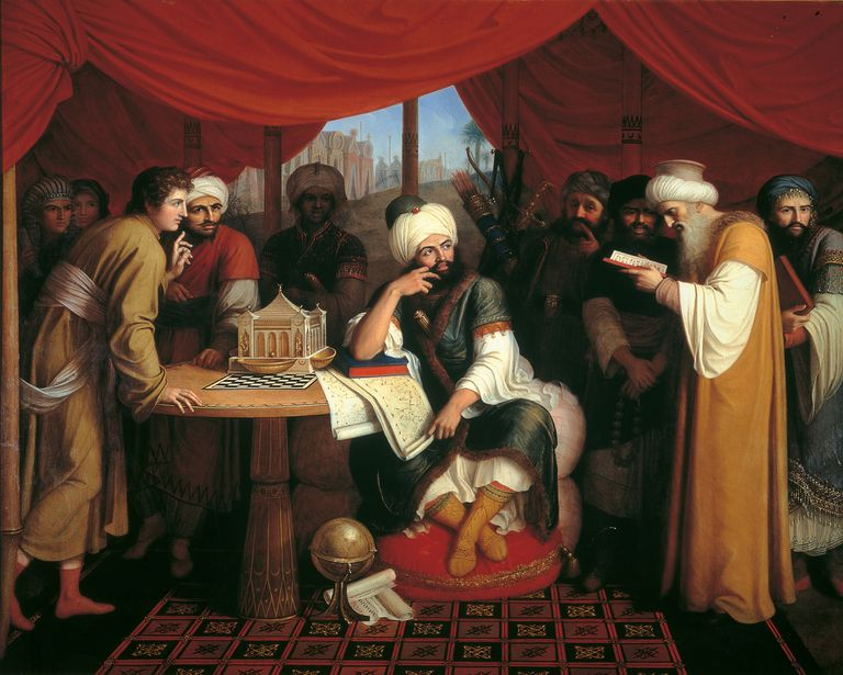 Harun al-Rashid and Wise Men