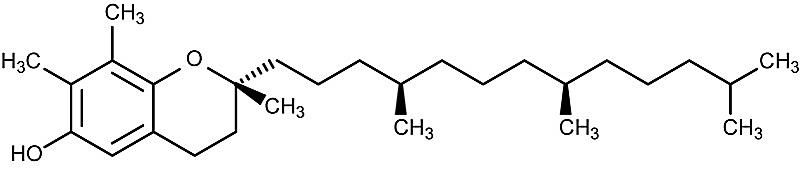 This is the chemical structure of gamma-tocopherol.