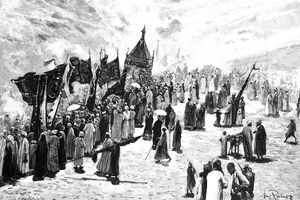 Illustration of the return to Mecca