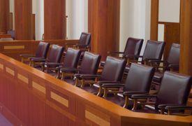 A modern jury box.