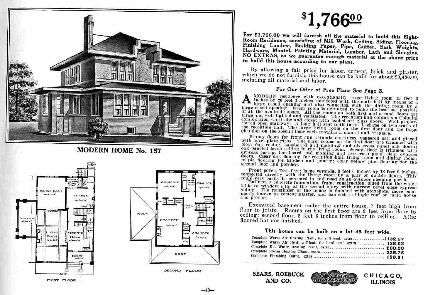 American Foursquare Catalog House Plans