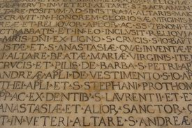 latin script engraved on marble