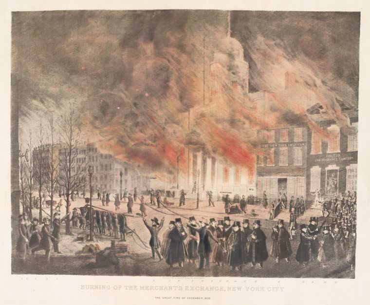 Burning of the Merchants Exchange in the Great Fire of 1835