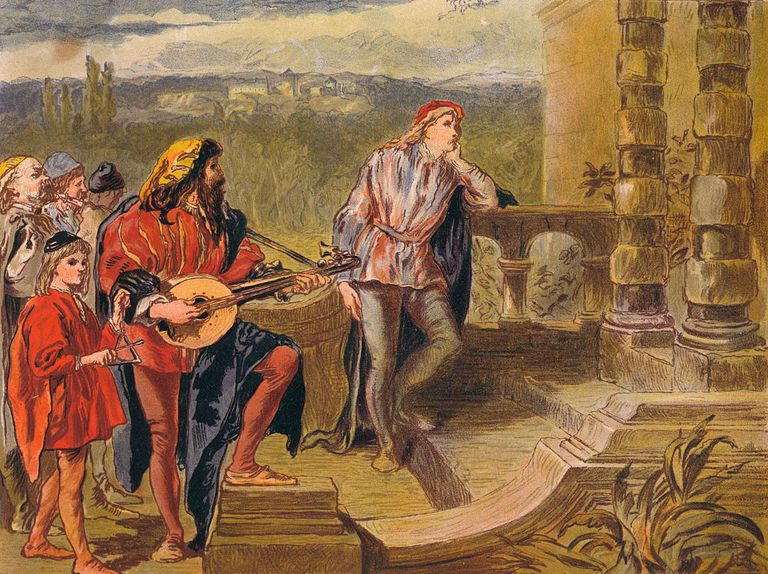 The musician sings in The Two Gentlemen of Verona