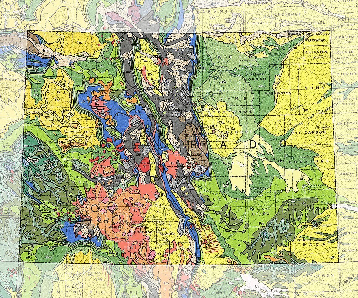 Geologic Map Of Colorado Geologic Maps of the 50 United States