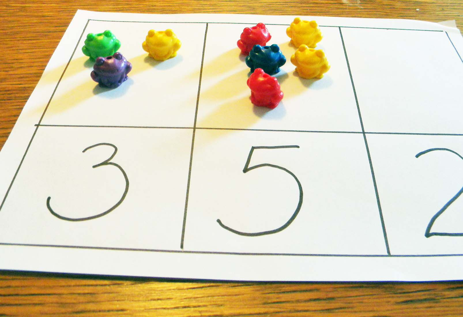 counting mats with toys