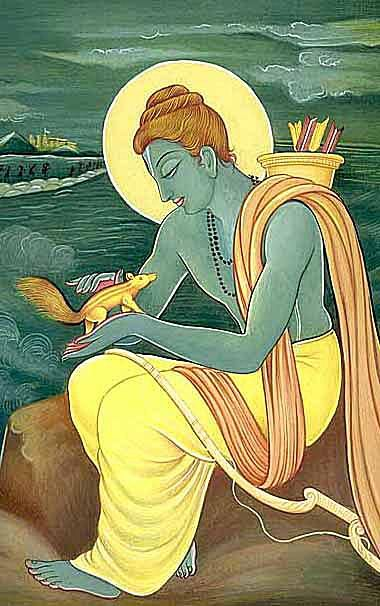 Rama at Rameshawaram