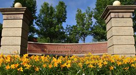 University of Northern Colorado school sign on a sunny day.