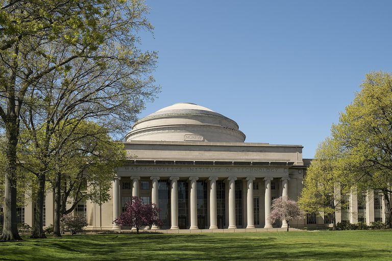 MIT building. The domed building on the Massachusetts Institute of Technology on campus.