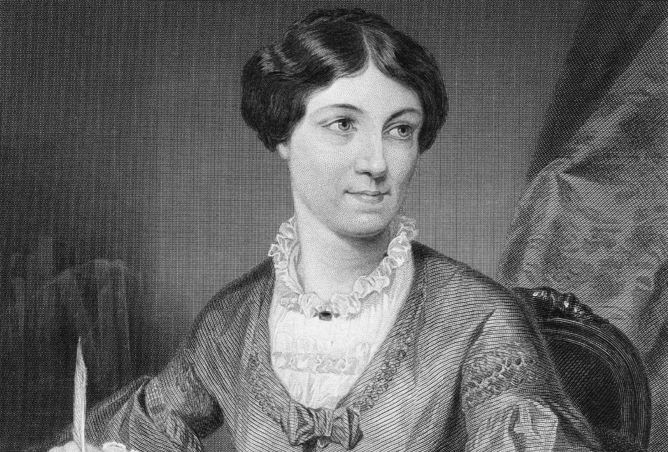 Engraving of Harriet Martineau
