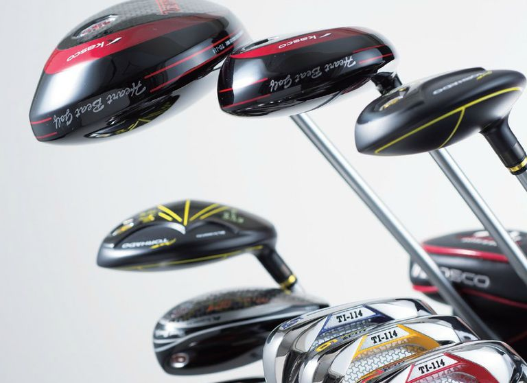 Kasco Golf clubs including woods and irons