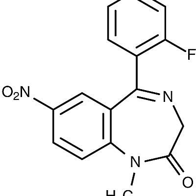 This is the chemical structure of flunitrazepam.