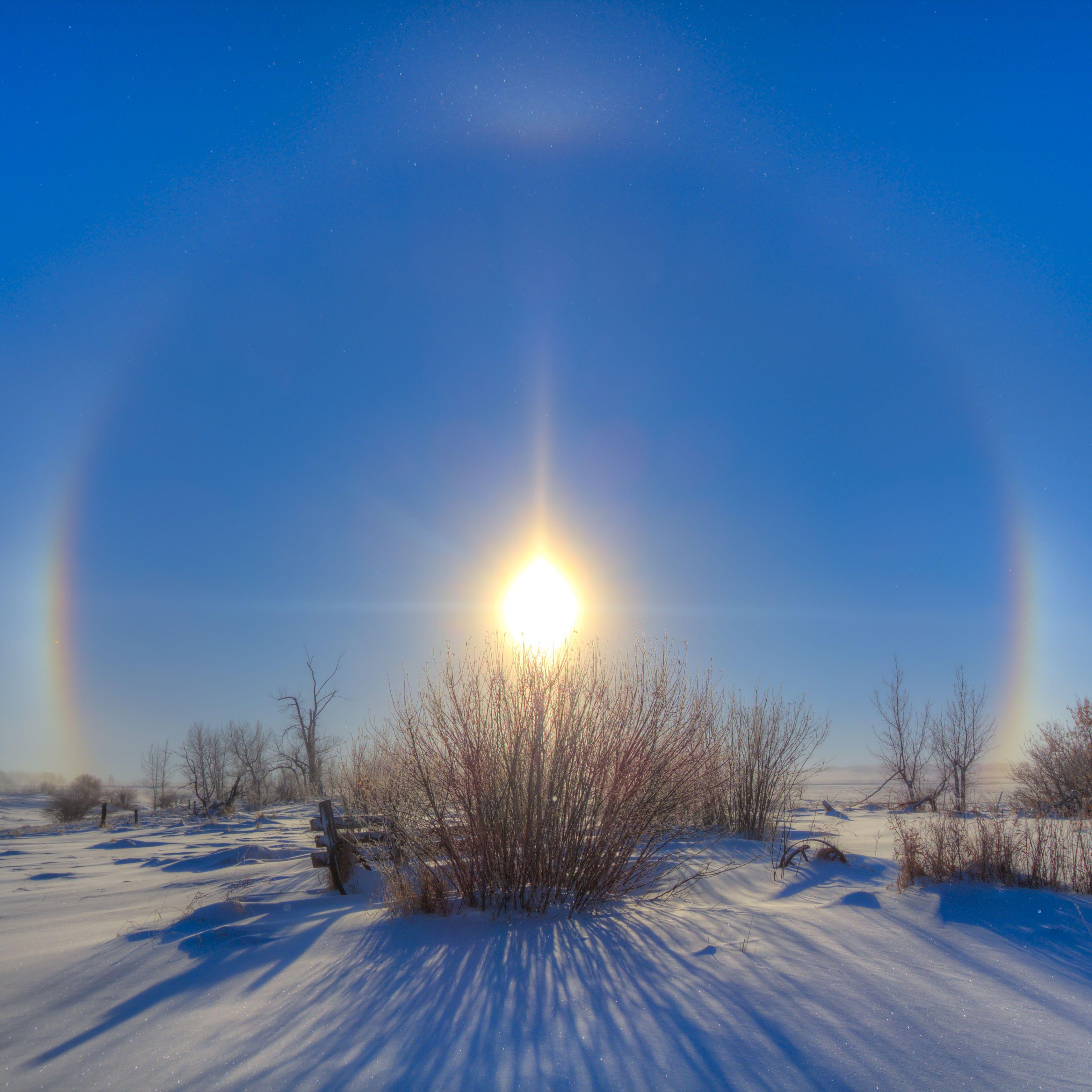 Sundogs Rainbows Beside The Sun