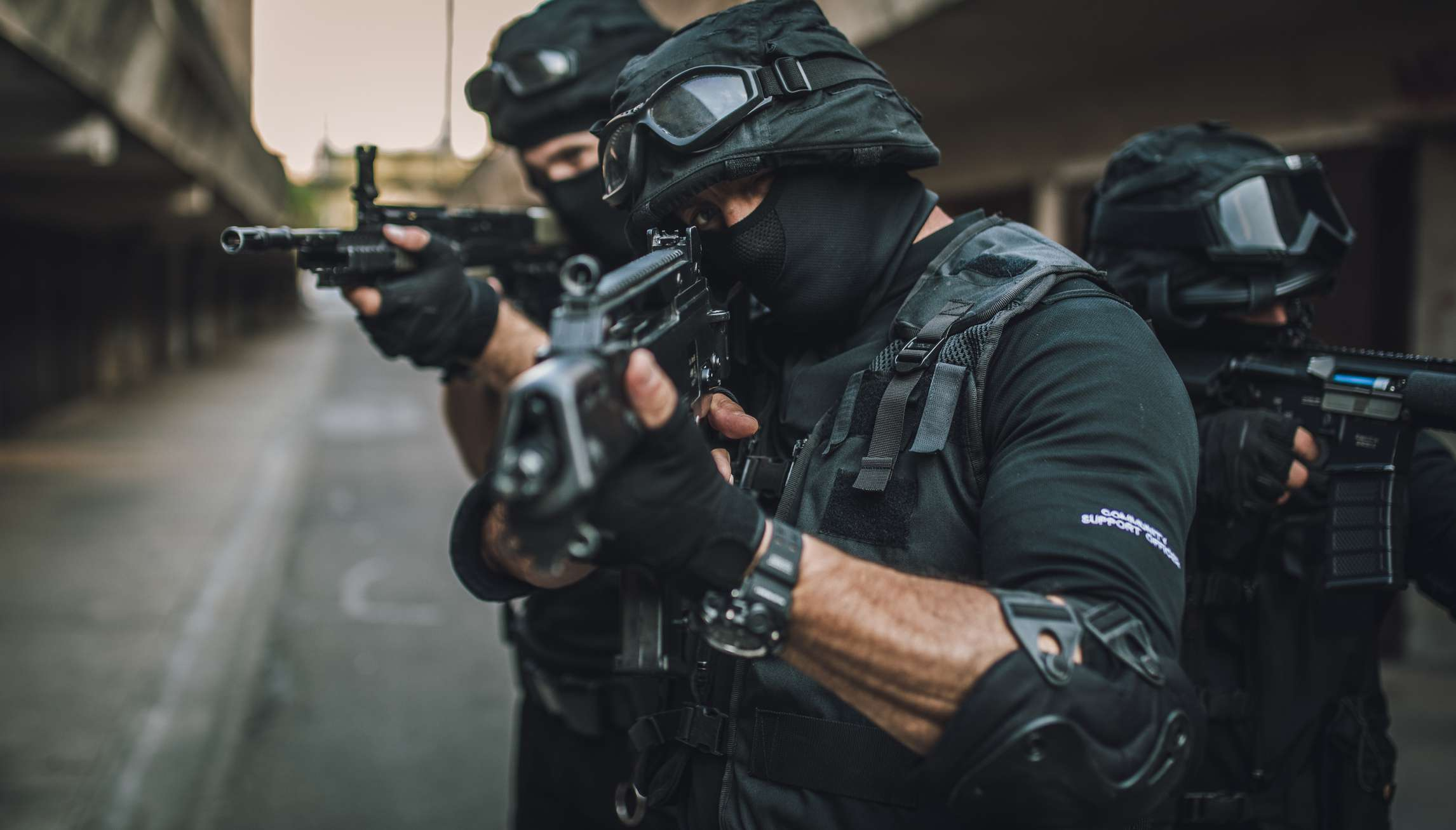 Police face criticism for use of military weapons and tactics.