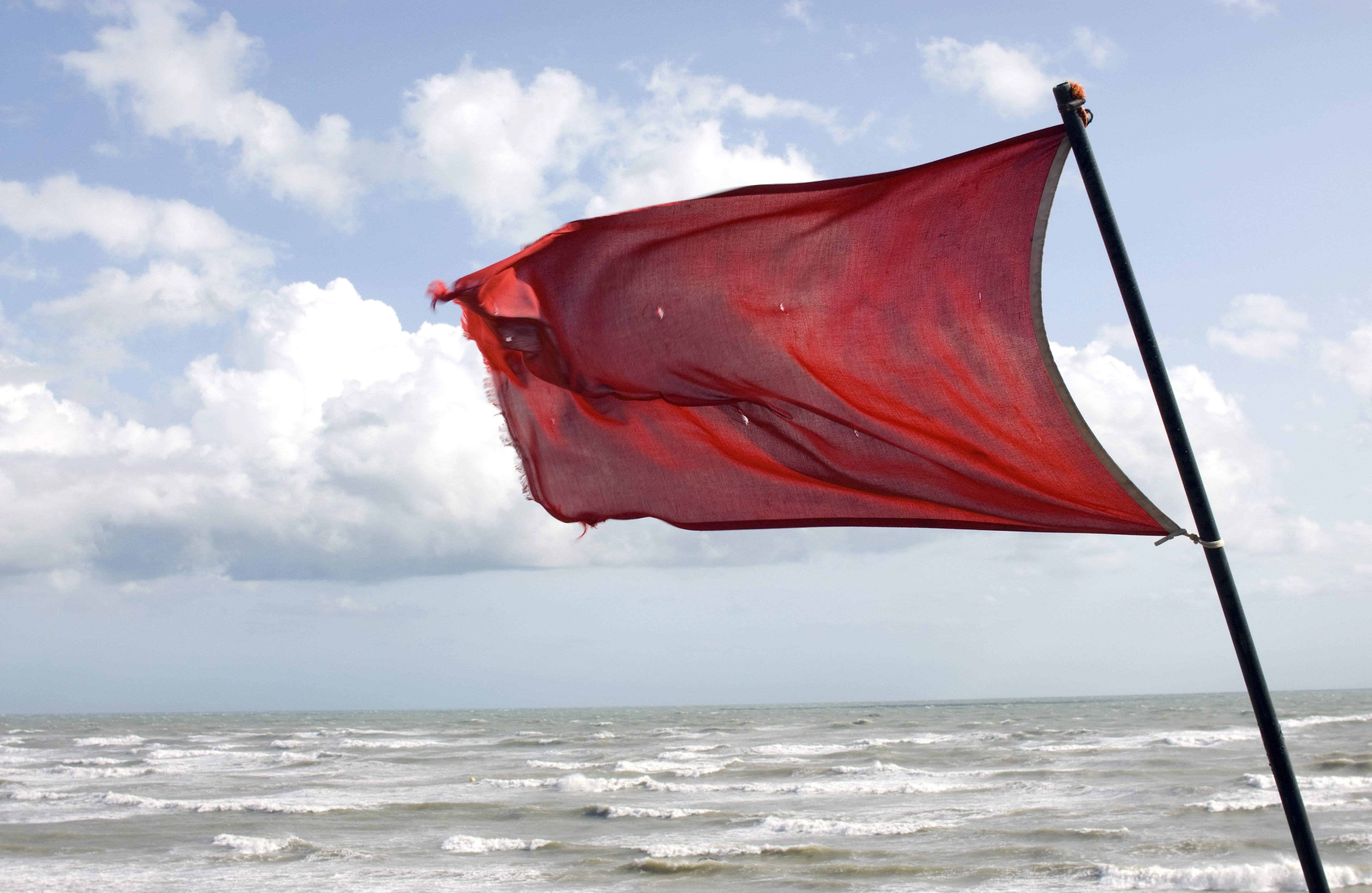 Weather Warning Fand Beach Flags