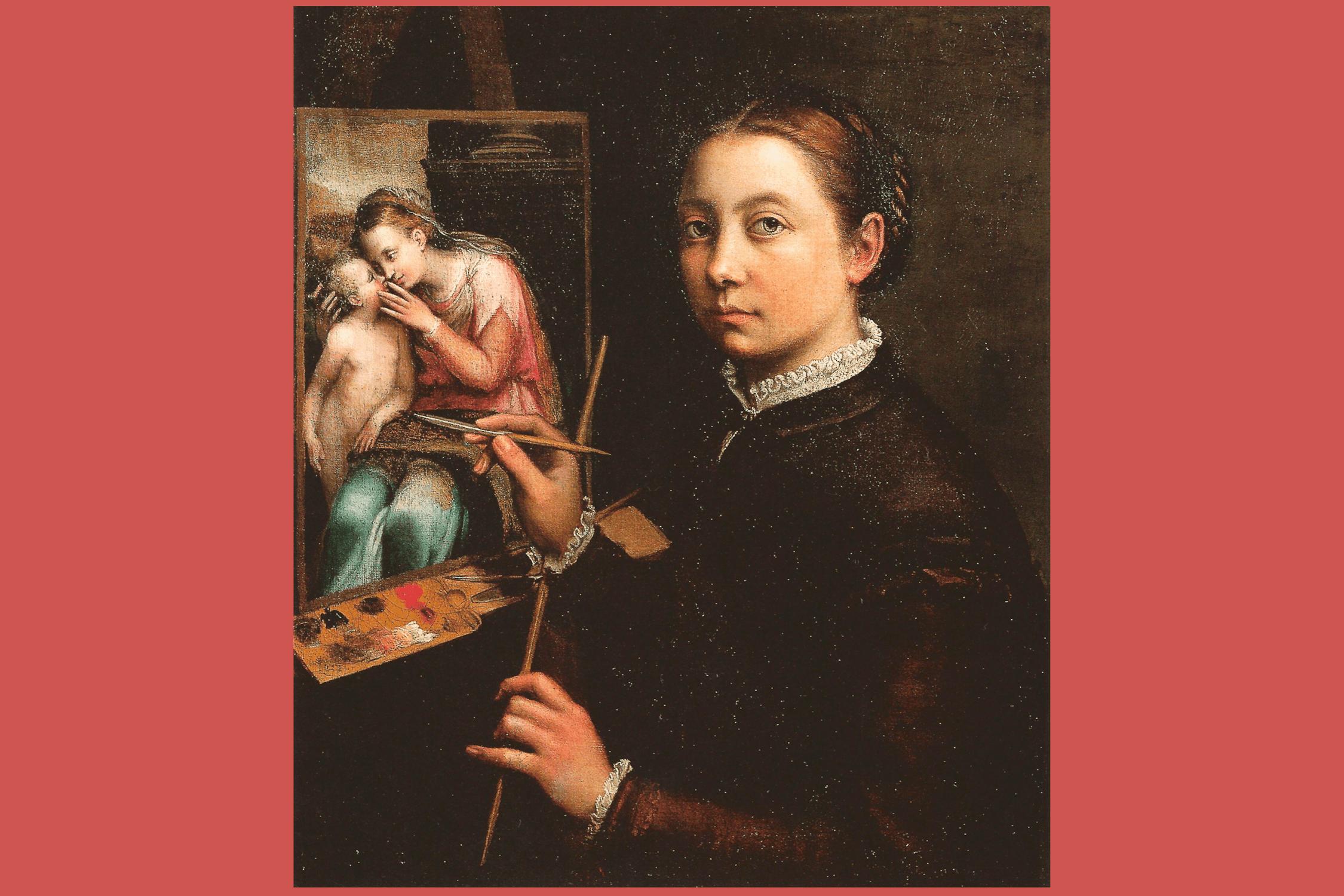 Self portrait of a woman painter