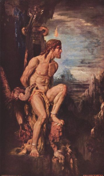 Prometheus by Gustave Moreau, (1868).
