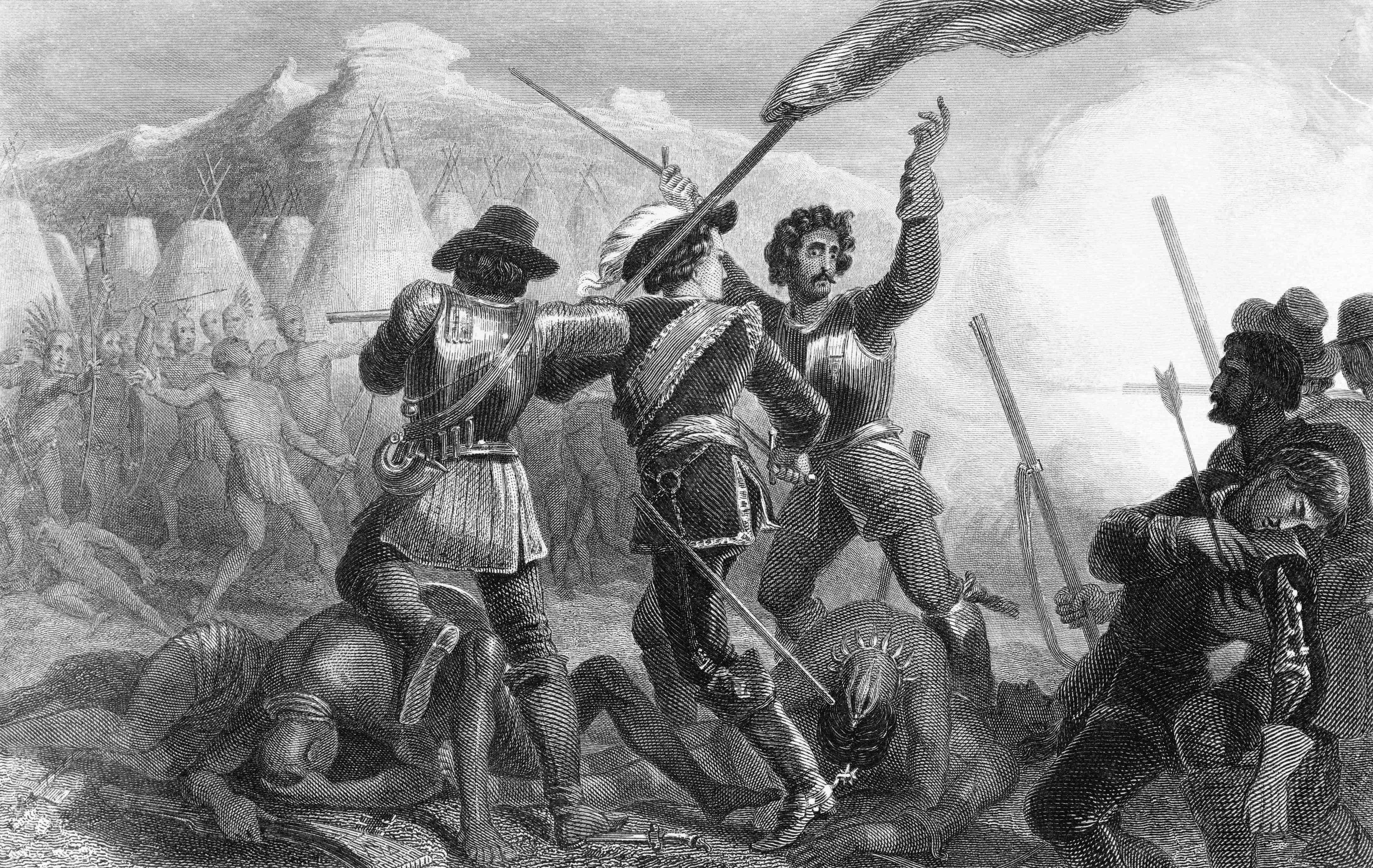 Pequot War Scene