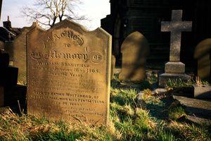Tombstones in the village of Heptonstall, near Hebden Bridge.