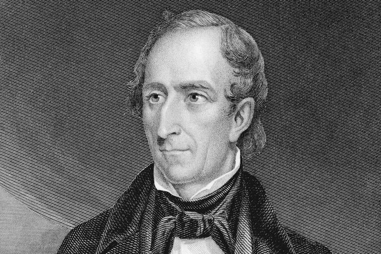 Engraved portrait of President John Tyler