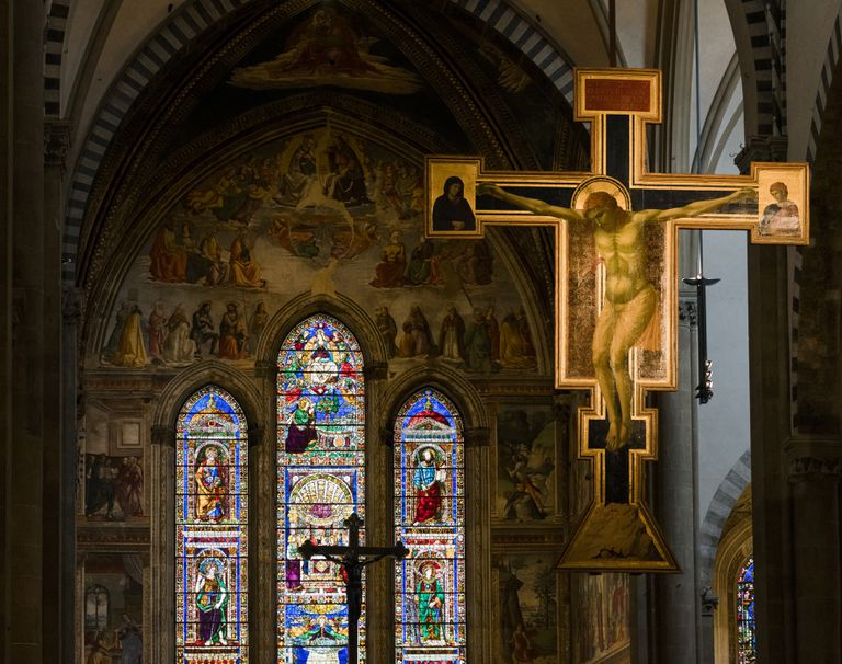 Cross and Stained Glass