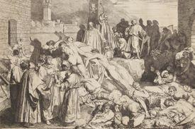 The Black Death strikes Italy