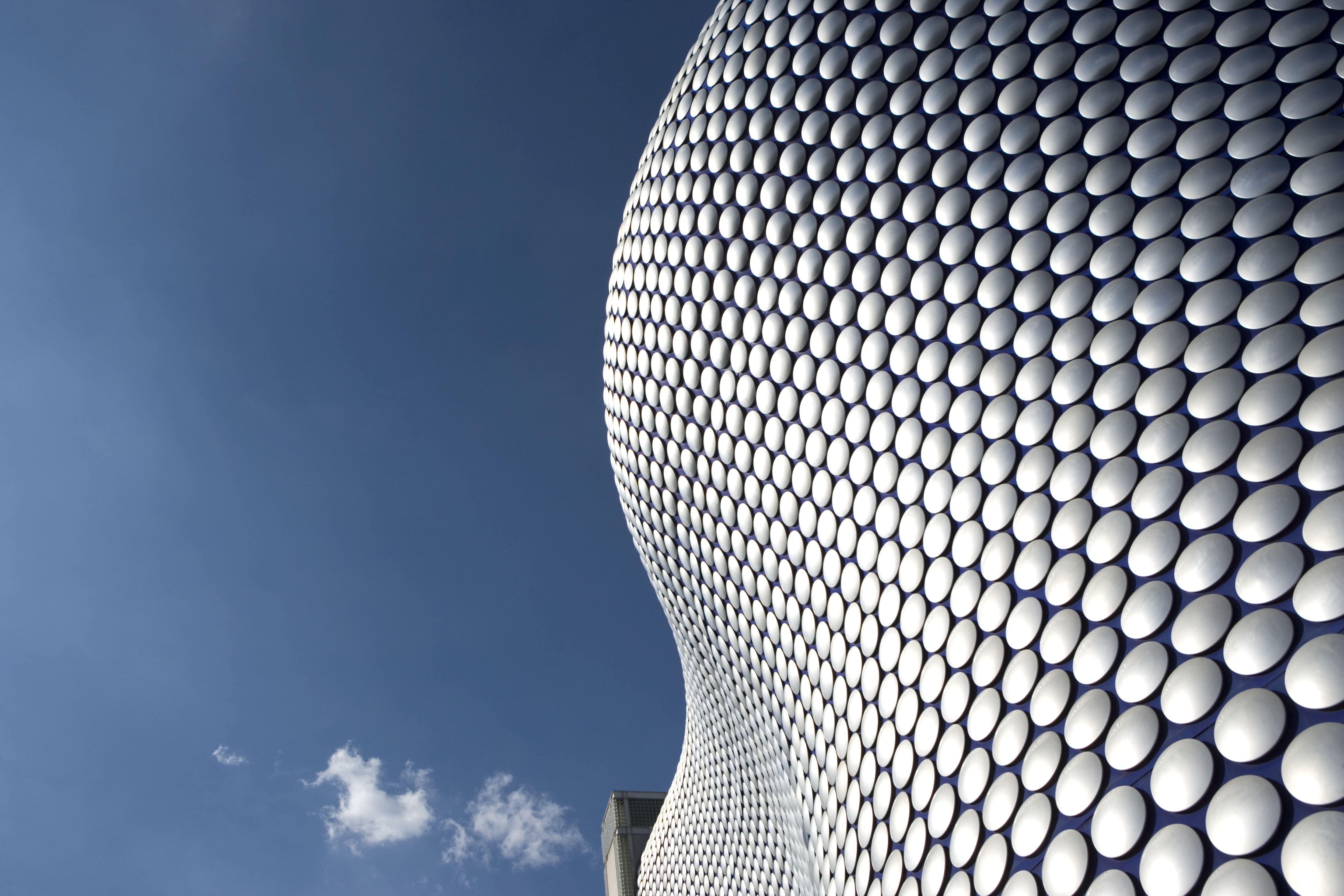 Shiny discs on Selfridges store, blobitecture in Birmingham, England