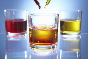 liquids being mixed
