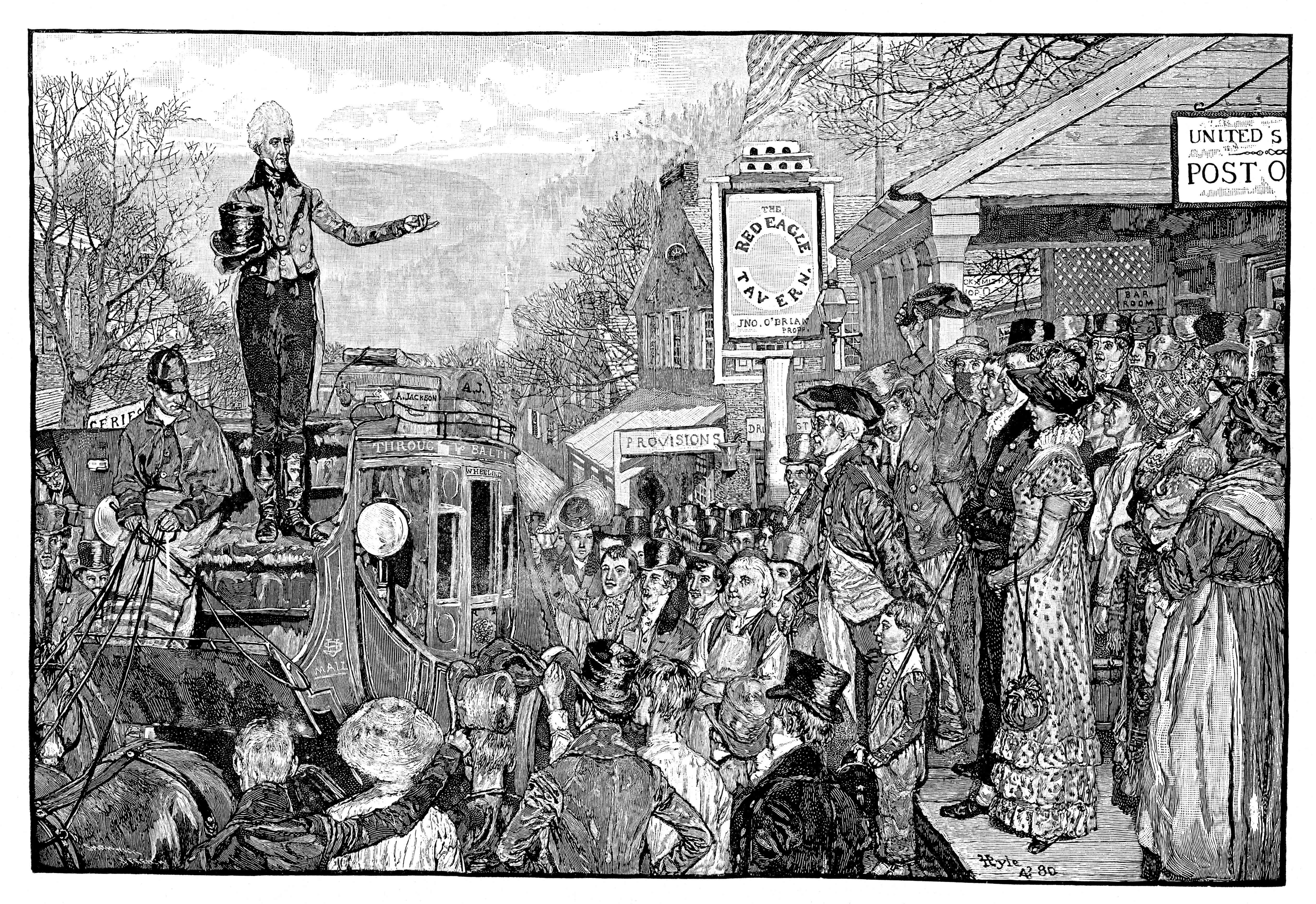 Andrew Jackson (1767-1845), 7th president of the USA, Washington, USA, 1828, (1881).
