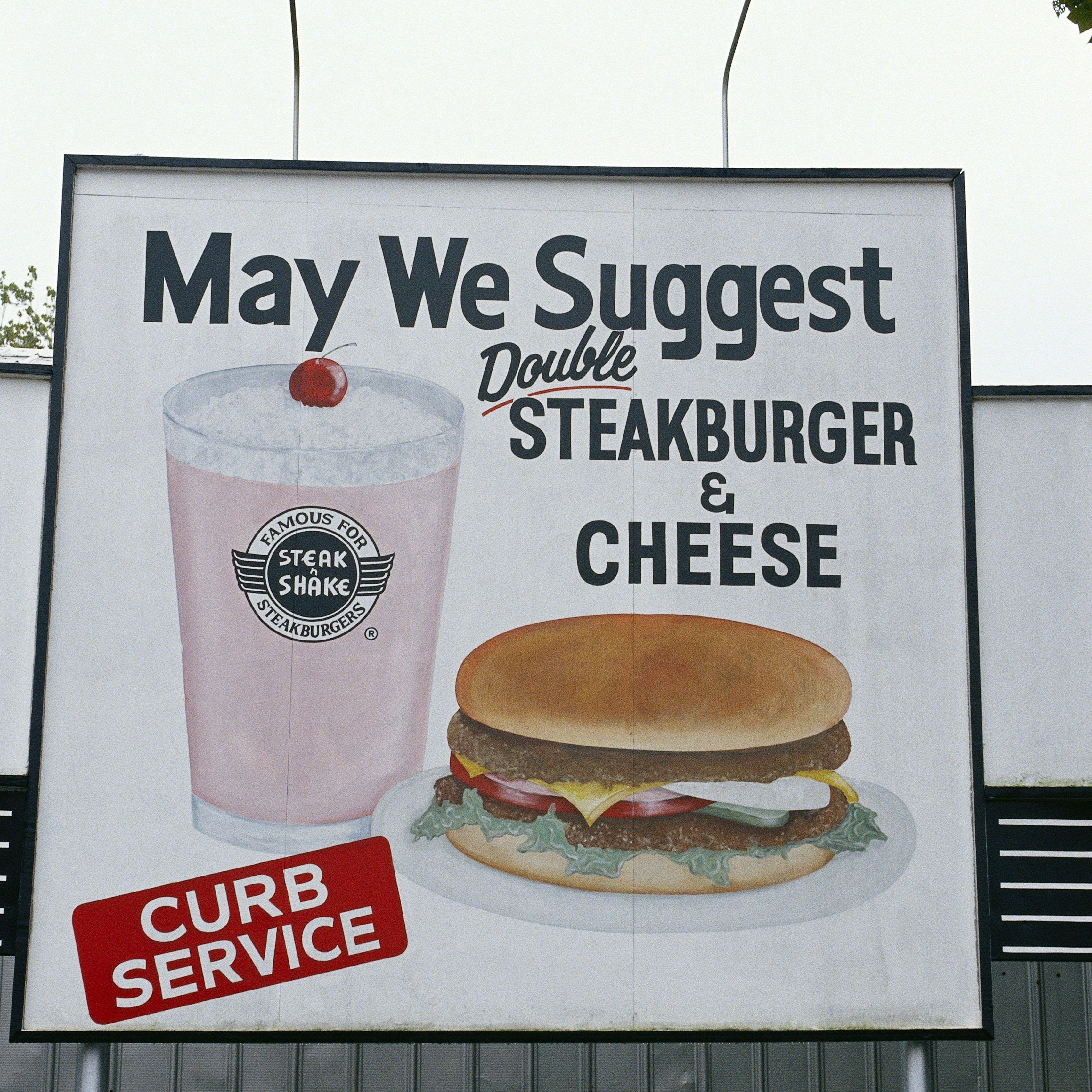Anuncio de hamburguesería