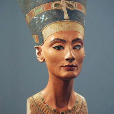 3,400-year-old bust of Egyptian Queen Nefertiti.