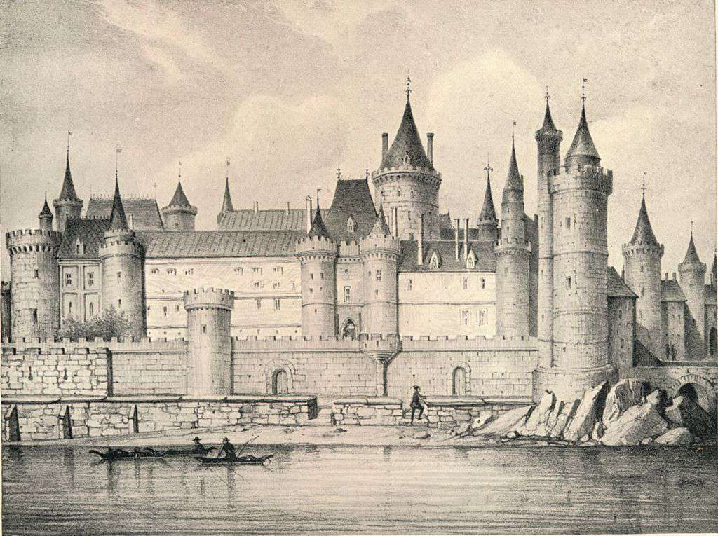 Rendition of the 17th century Louvre Palace