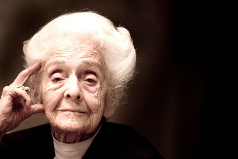 Italian Scientist Rita Levi Montalcini at the celebrations of her 100 birthday.