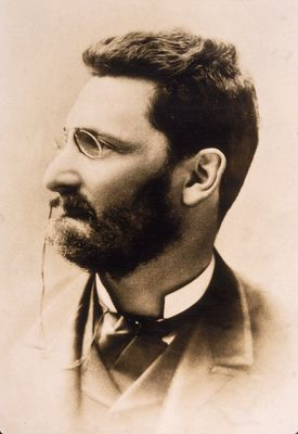 Profile portrait of Joseph Pulitzer