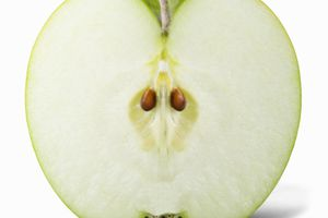 Once a cut apple is exposed to air, it starts to discolor.