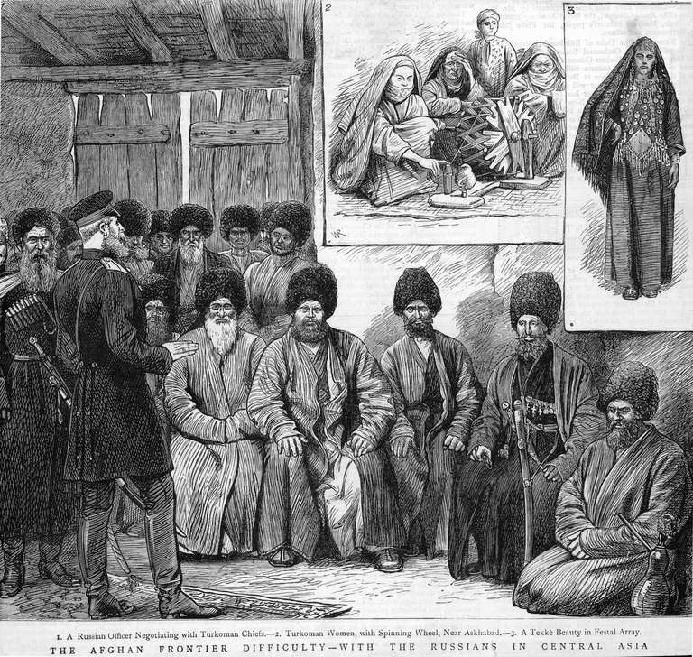 The Russians and British vied for influence in Central Asia during the 18th & 19th centuries