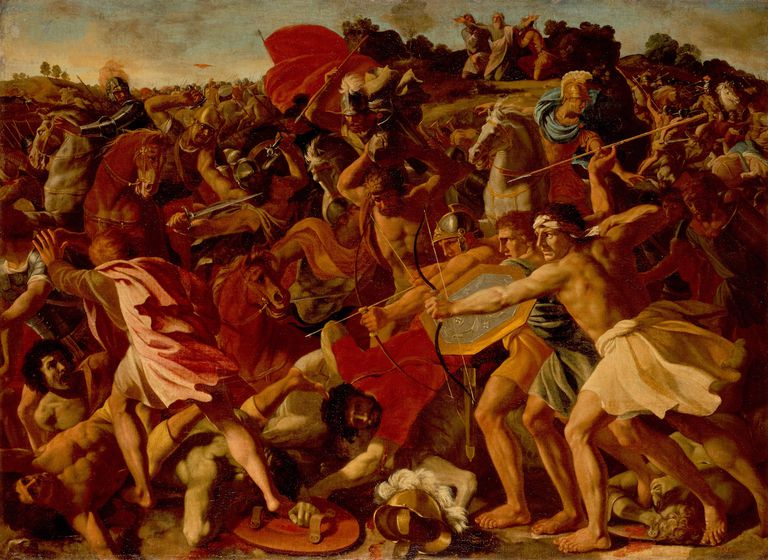 The Victory of Joshua over the Amalekites, by Nicolas Poussin