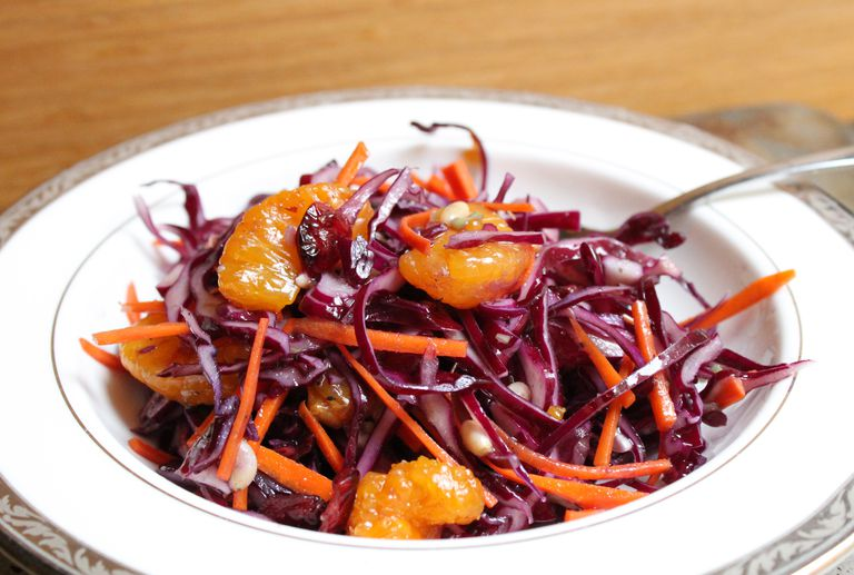 Purple Cabbage and Mandarin Salad