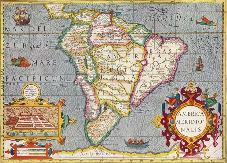 'South America (America Meridionalis): from the Atlas of Gerardus Mercator', 1633, (1936)