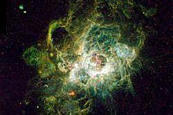 NGC 604, a region of ionized hydrogen in the Triangulum Galaxy.