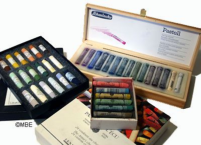 Pastel Painting Selecting Colors