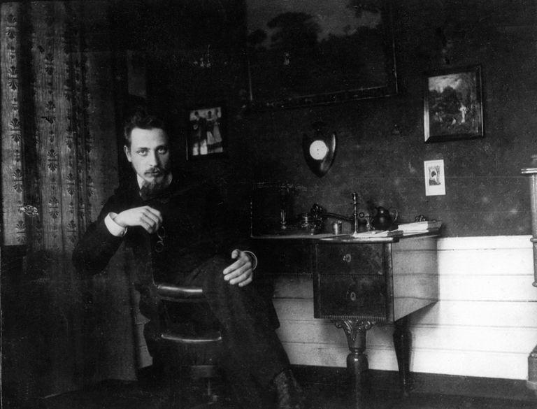 Rainer Maria Rilke In His Study