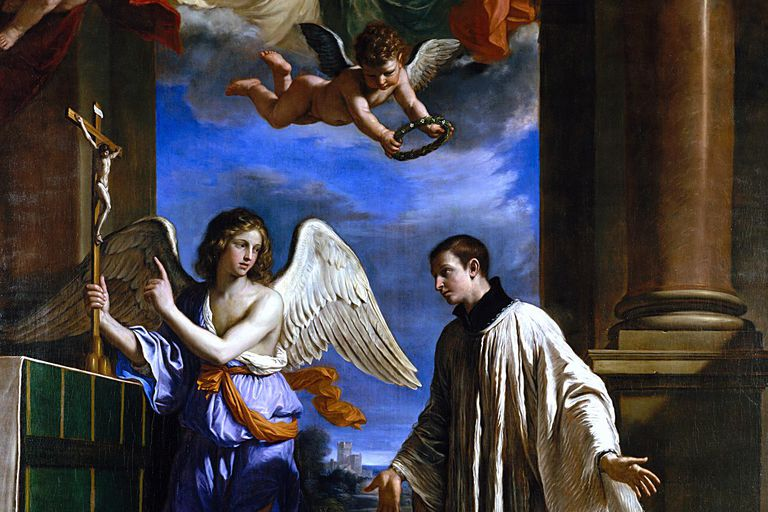 "The painting ""The Vocation of Saint Aloysius Gonzaga"" by Guercino, ca. 1650"