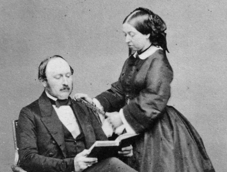 Portrait of Queen Victoria and Prince Albert