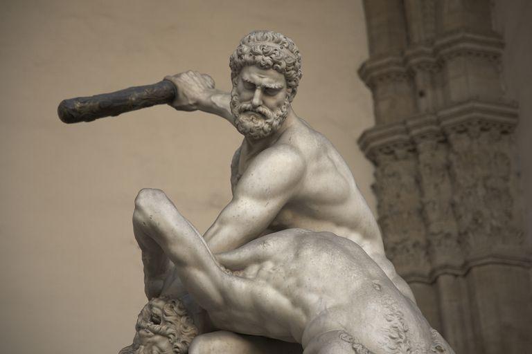 Statue of 'Hercules and Nero' in the Piazza della Signoria, Italy