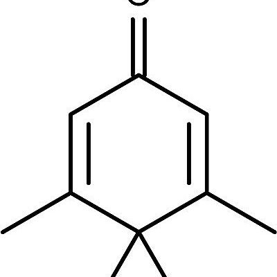 This is the chemical structure of penguinone or 3,4,4,5-tetramethylcyclohexa-2,5-dien-1-one.