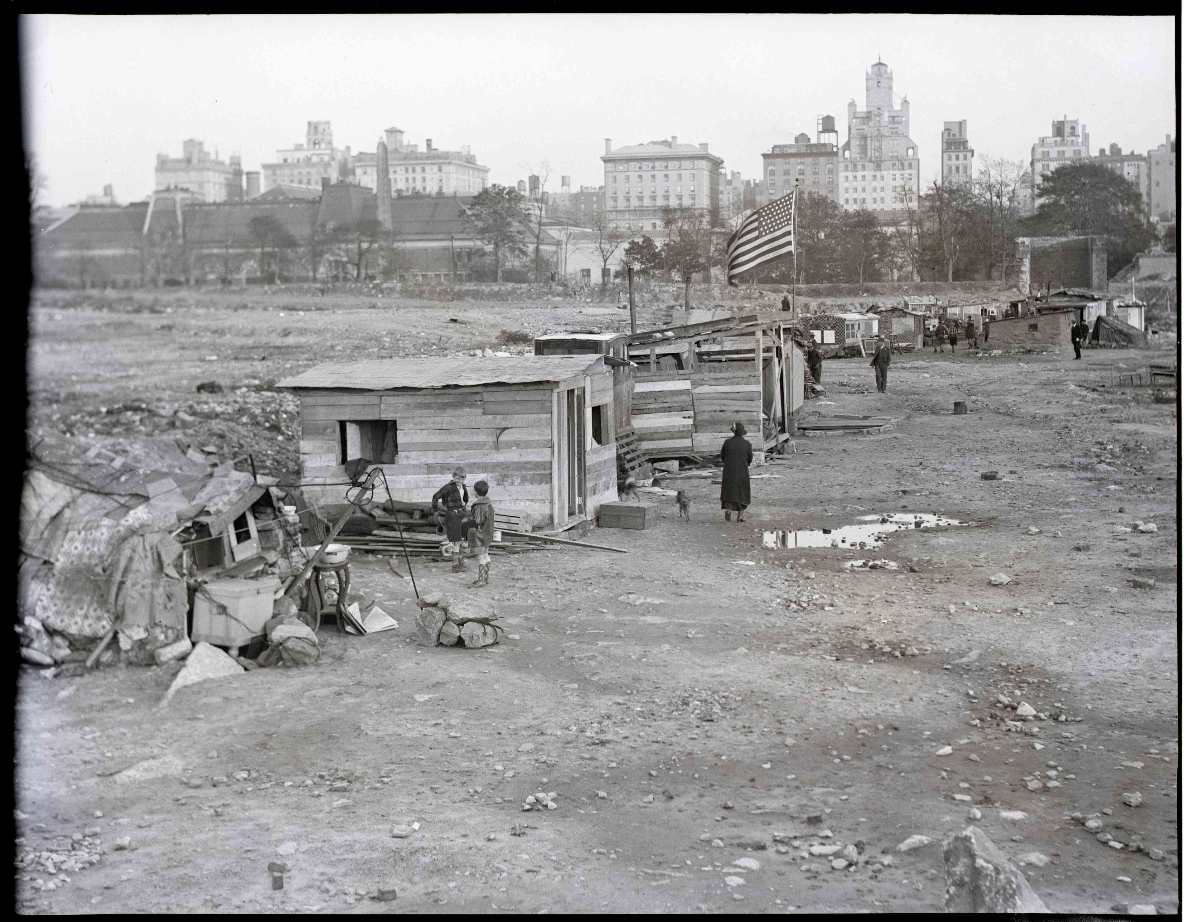 A 'Hooverville' On Waterfront Of Seattle Washington USA Great Depression March 1933