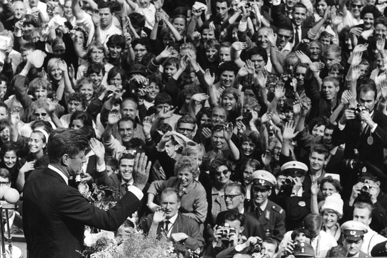 JFK speaking to crowd in Berlin