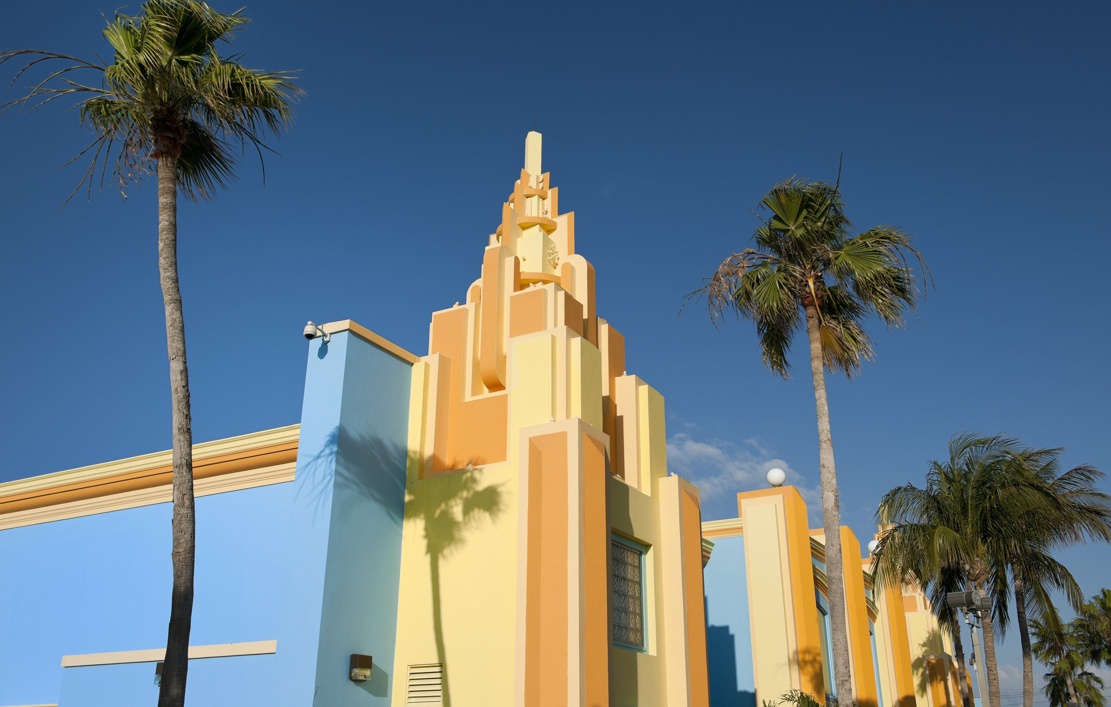 Colorful painted Art Deco houses in Miami, Florida